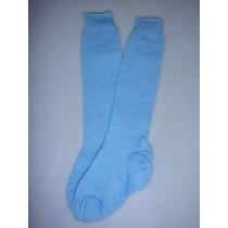 "|Sock - Knee-High Cotton - 24-26"" Blue (8)"