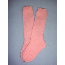 "|Sock - Knee-High Cotton - 8-11"" Pink (00)"