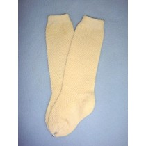"|Sock - Knee-High w_Open Weave Pattern - 18-20"" Ivory (4)"