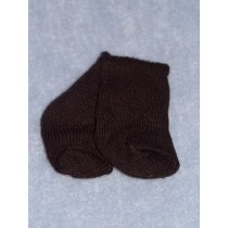 "|Sock - Knee-High Cotton - 18-20"" Black (4)"