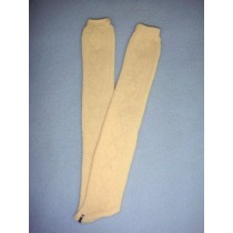 "|Stocking - Long Design - 18-20"" Ivory (4)"