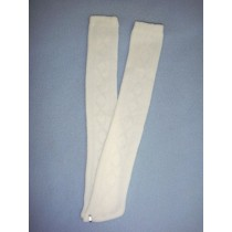 "|Stocking - Long Design - 24-26"" White (8)"