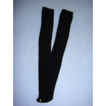 "|Stocking - Long Open Weave - 18-20"" Black (4)"