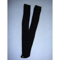 "|Stocking - Long Open Weave - 8-11"" Black (00)"