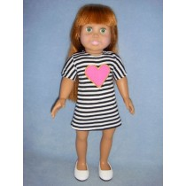 "|Striped Dress for 18"" Dolls"