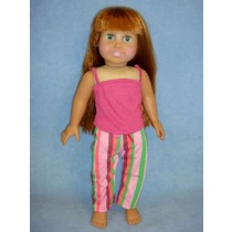 "|Striped Pajamas for 18"" Doll"