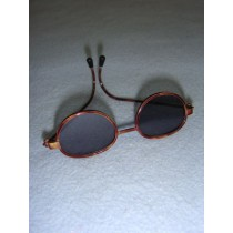 "|Sunglasses - 3"" Tortoise Wire"