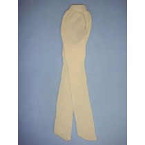 "|Tights - Patterened - 18-20"" Ivory (4)"