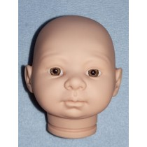 |Tina Doll Head w_Hazel Eyes - Unpainted