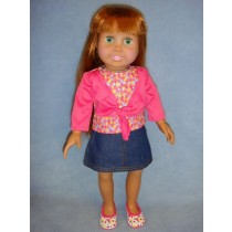 "|Top, Skirt & Shoes for 18"" Doll"