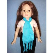 "|Turquoise Scarf - 18"" Dolls"