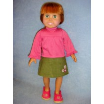 "|Turtleneck & Skirt for 18"" Doll"