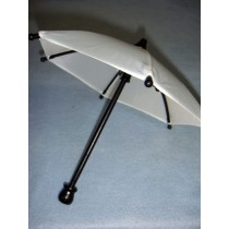 "|Umbrella- Cloth - 8 1_2"" White w_Black"