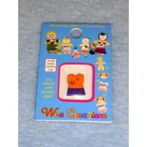  WC Child Outfit-Orange Top w_Flowers & Purple Pants