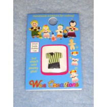 |WC Child Outfit - Green Striped Top & Black Pants