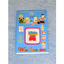  WC Child Outfit - Multi-Color Striped Top w_Red Pants