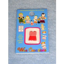 |WC Child Outfit - Red_White Striped Top & Red Pants