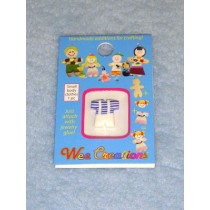  WC Child Outfit - White Overalls w_Blue Striped Top