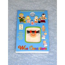 |WC Girl Face - Fair Skin - Black Pigtails