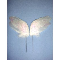 "|White Feather Wings - 3"" 2 Pcs"
