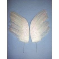 "|White Feather Wings - 6 1_2"" 2 pcs"