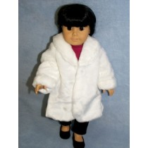 "|White Fur Coat - 18"" Doll"