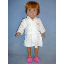 "|White Robe for 18"" Doll"