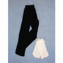 "|White Socks & Black Tights - 18"" Doll"