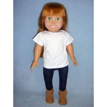 "|White Top & Jeggings for 18"" Dolls"