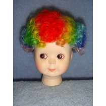 "|Wig - Clown - 6-7"" Rainbow"