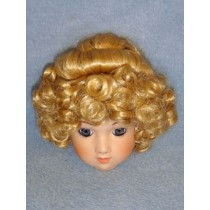 "|Wig - Curls & Bun - 9"" Blond"