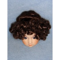 "|Wig - Curls & Bun - 9"" Brown"