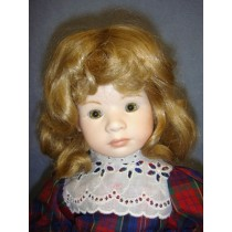 "|Wig - Loose Curls w_Bangs - 9"" Blond"