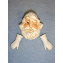 "|Winking Santa w_Mittens Porcelain - 3"""