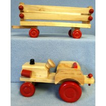 "|Wood - 7"" Tractor & 9 1_4"" Wagon"