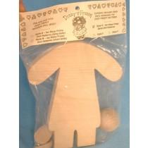 " Wood - Doll Kit - 10"""