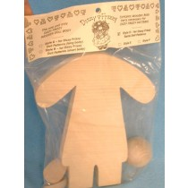 "|Wood - Doll Kit - 10"" Style D"