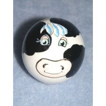 "|Wood - Head - Cow -2"" Black_White"