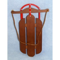 |Wood & Metal Sled - 11 3_4""