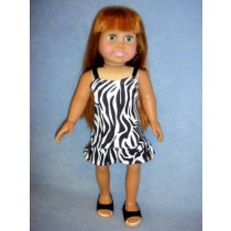 "|Zebra Print Dress for 18"" Doll"