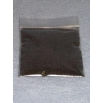 |.50-.75mm Black Glass Beads - 2 oz.