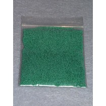 |.75 - 1mm Green Glass Beads - 2 oz.