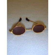 "Sunglasses - Oval - 3"" Gold"