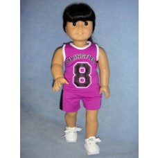 "|Basketball Outfit for 18"" Dolls"