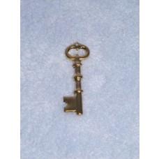 "Charm - Gold Key - 1 3_4"" Pkg_1"