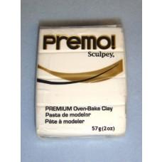 Clay - Premo Sculpey - White - 2 oz