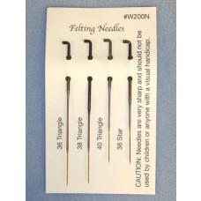 Felting Needles - Set of 4 (36T, 38T, 38S, 40T)