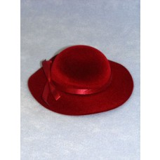"Hat - Classic Flocked - 7"" Burgundy"