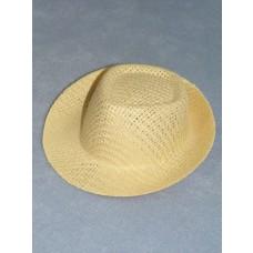 "Hat - Straw Fedora - 2 3_4"" Natural"