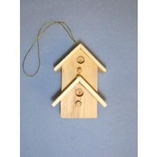 Miniature Wooden Bird House